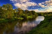 Summer river. It is photographed in Russia. 60 kilometers on East from Moscow. poster