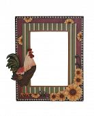 A country themed picture frame isolated over white poster