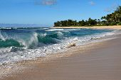 Breaking Wave on Oahu's North Shore on a Sunny Afternoon poster