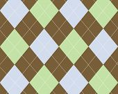 Brown green and blue argyle design image poster