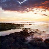 Tropical sunset on the Big Island. Hawaii. USA. poster