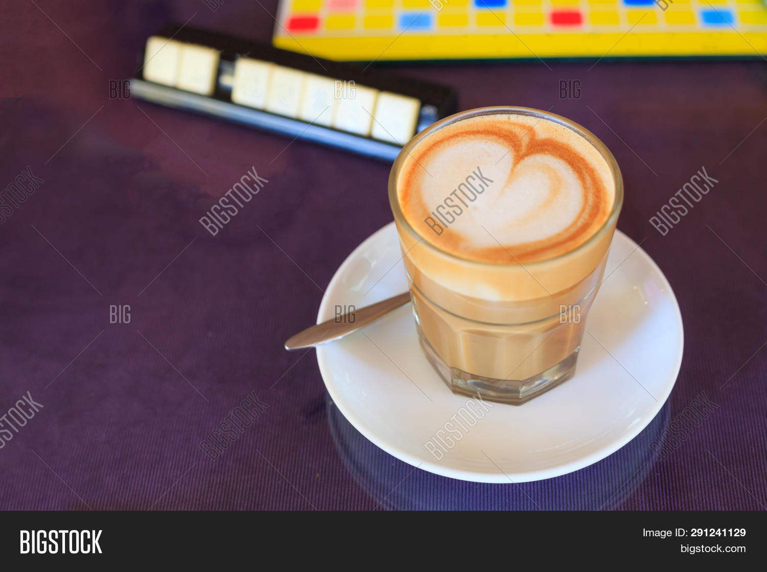 Hot Brown Caffe Latte Image Photo Free Trial Bigstock