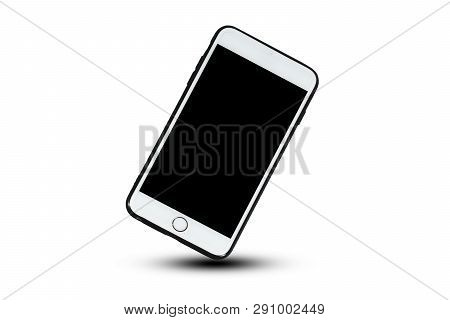 Mobile Smart Phone On White Background