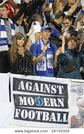 Fc Dynamo Kyiv Supporters Show Their Support