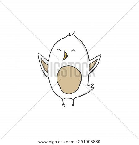 Sparrow Vector Songbird Illustration Singer Drawing Character Bird Color Grey Texture Smile Face Ful