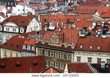 Old tiled roofs, Czech republic