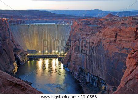 Glen Canyon Dam Twilight