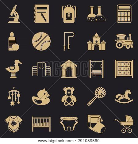 Scholar Icons Set. Simple Set Of 25 Scholar Vector Icons For Web For Any Design