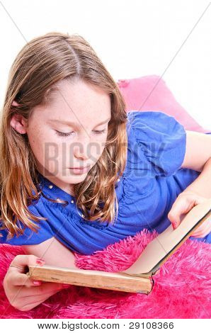 Girl relaxing with book
