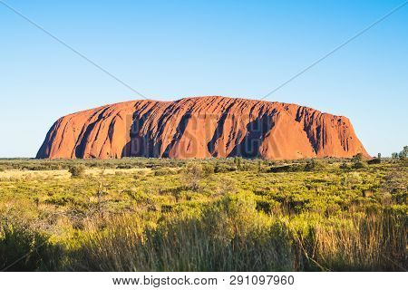 25th December 2018, Sydney Nsw Australia : Scenic View Of Uluru With Clear Blue Sky On Sunny Summer