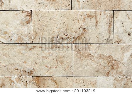 Brickwall With Decorative Stone Bricks Suitable For Backgrounds