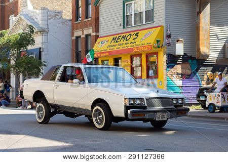 Chicago, Illinois, Usa - September 15, 2018: Pilsen Mexican Independence Day Parade, Buick, Gnx, Low
