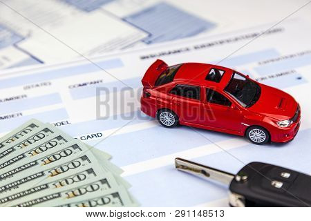 Rostov On Don, Russia, January 29, 2018: The Concept Of Car Insurance. Motor Or Car Insurance Applic