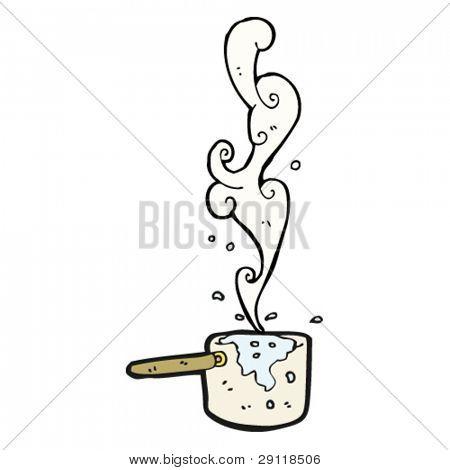 pan boiling hot water cartoon