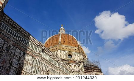 The Florence Cathedral And The Dome Of Brunelleschi, Tuscany, Italy