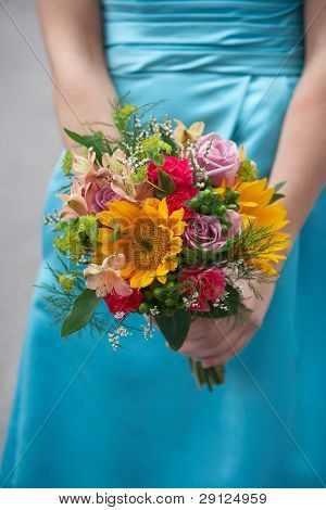 Bridesmaid wedding bouquet