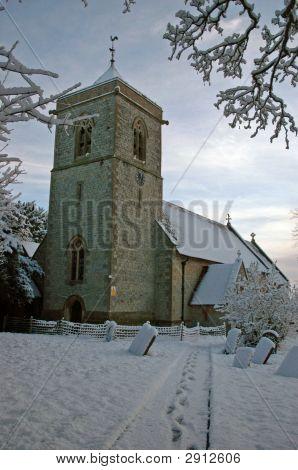 Wintery Church Scene