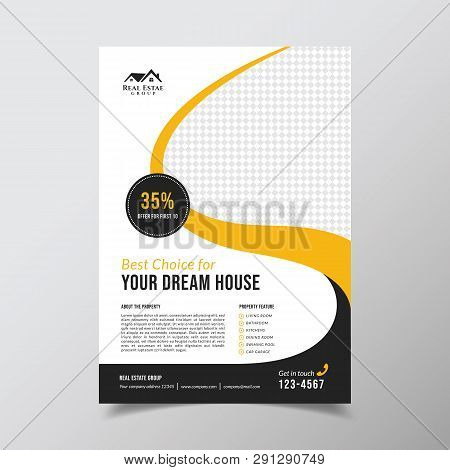 Geometric Real Estate Brochure Design Template. Business Flyer Brochure Design Template