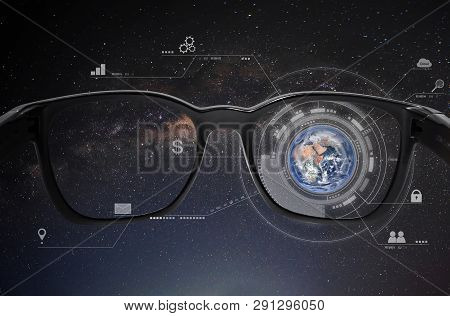 Smart Glasses, Vr Virtual Reality, And Ar Augmented Reality Technology. Element Of This Image Are Fu