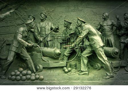 Detail Crimean War monument. Sebastopol poster