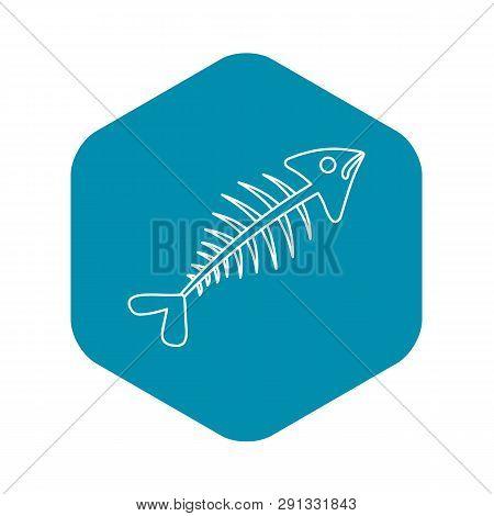 Fish Bone Icon. Outline Illustration Of Fish Bone Vector Icon For Web