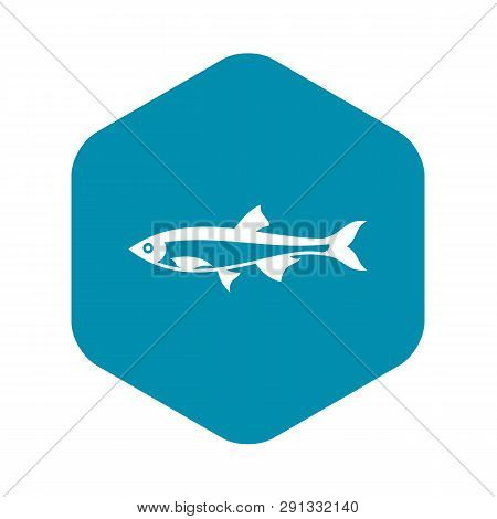 Herring Fish Icon In Simple Style On A White Background
