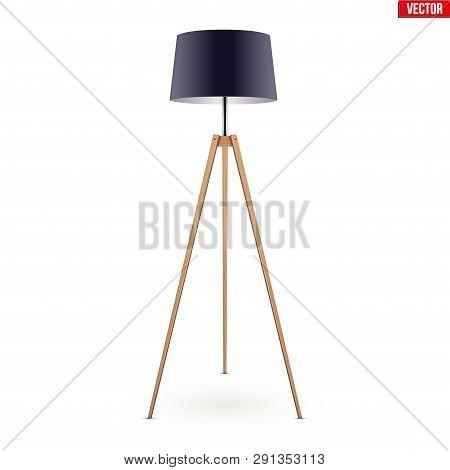 Decorative Floor Lamp Vector Photo