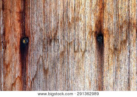 Grunge Water Stain Pattern On Old Wood Door Frame, Hardwood Texture On Wooden Board, Woodgrain Backg