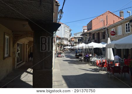 Arcades Of The Real Street Dated In The X Century In The Medieval Town Of Walls. Nature, Architectur