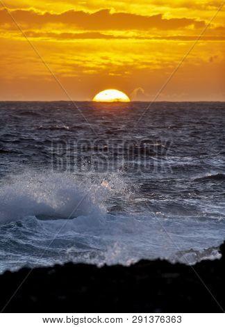 Sunrise Off The Northern Coast Of Bonaire