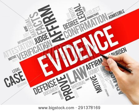 Evidence Word Cloud Collage, Social Concept Background