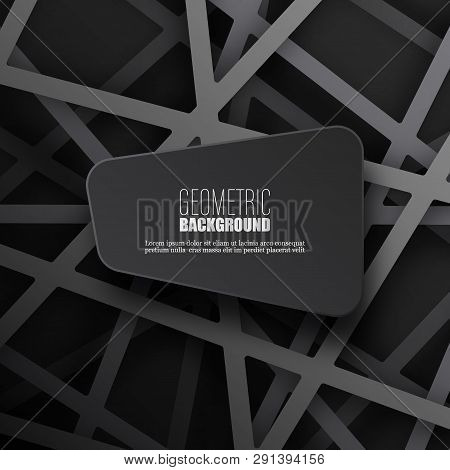 Dark Abstract Background Gray Line And Shaadow