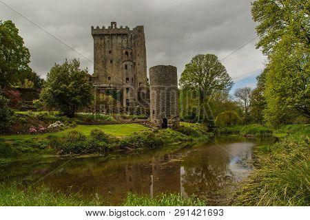 Blarney, Ireland - May 13, 2015: Blarney Castle, A Medieval Stronghold In Blarney, Near Cork, Irelan