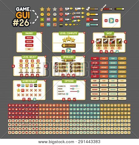 Video Game GUI #26 for creating video games poster