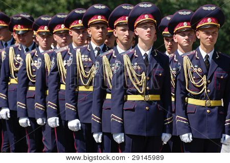 KIEV,UKRAINE- JUNE 21:  Honor Guard. Lost soldiers of WW2 funerals. June 21,2008. Kiev,Ukraine