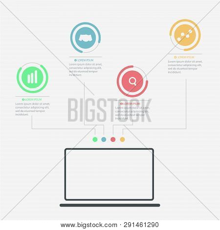 Infographic Elements - Process Infographics, Steps And Options, Circle Diagram, Workflow Diagrams, T