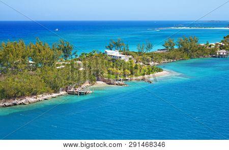 Cabbage beach on Paradise island in Nassau, Bahamas