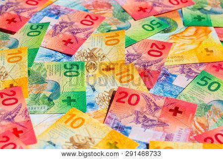 Collection of the new swiss banknotes (issued in 2017)