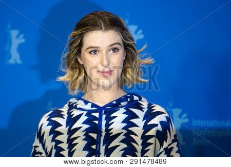 Honor Swinton-Byrne poses at the 'The Souvenir' photocall during the 69th Berlinale International Film Festival Berlin at Grand Hyatt Hotel on February 12, 2019 in Berlin, Germany.