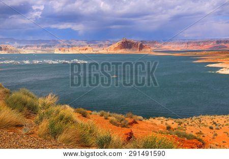 Lake Powell scenic recreation area near Page Arizona