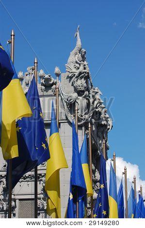 European chimera of Ukraine.Famous chimera house. In present time is a guest house of ukrainian president. Kiev,Ukraine. Detail