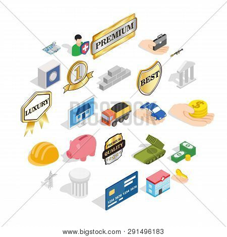 Corporate Ethics Icons Set. Isometric Set Of 25 Corporate Ethics Icons For Web Isolated On White Bac