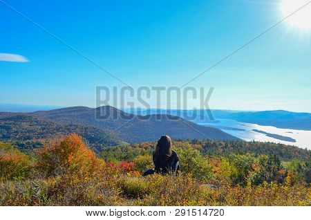 Hiking And Contemplating In The Adirondack Mountains In New York