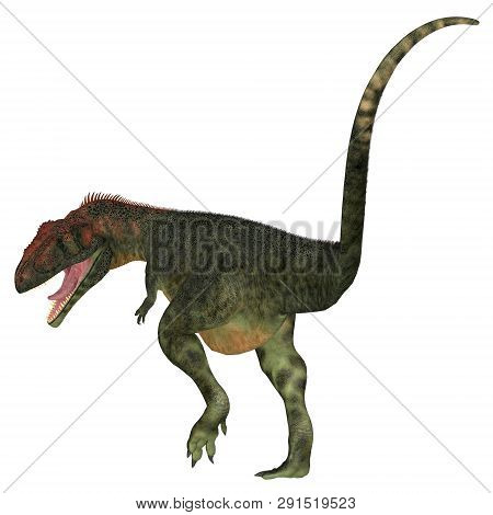 Mapusaurus Dinosaur Tail 3d Illustration - Mapusaurus Was A Carnivorous Theropod Dinosaur That Lived