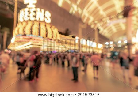 Abstract Blurred background of Las Vegas city cityscape in Nevada USA night