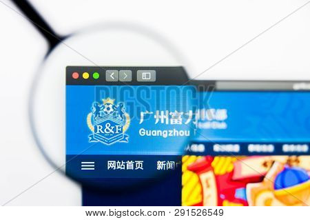 Los Angeles, California, Usa - 25 March 2019: Illustrative Editorial Of Guangzhou R And F Website Ho