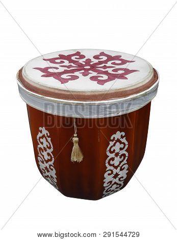 Tabula Kazakh Folk Musical Instrument Isolated On White Background. Clipping Path Included.