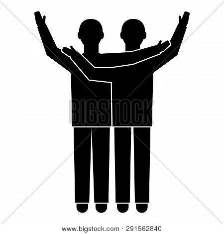 Two Brotherhood Boy Icon. Simple Illustration Of Two Brotherhood Boy Icon For Web Design Isolated On