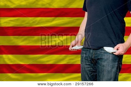 Recession Impact On Young Man And Society In Catalonia