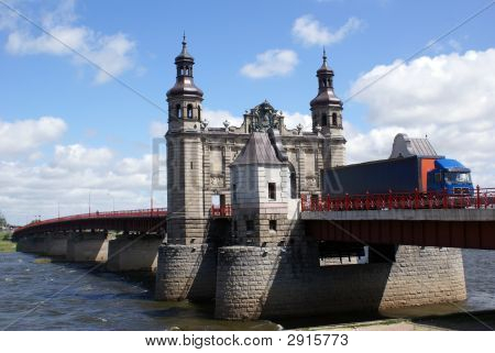 Old bridge Luisa on the river in